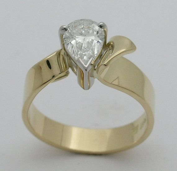 Pear Shape Canadian Diamond 18k gold and by WatertonJewelry, $12000.00
