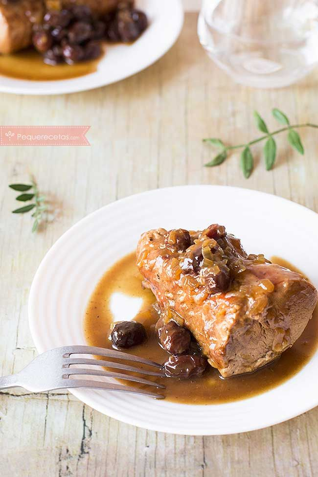 Cómo hacer solomillo al Pedro Ximenez, receta paso a paso. Solomillo de cerdo con salsa al Pedro Ximenez. Receta de solomillo al Pedro Ximenez.