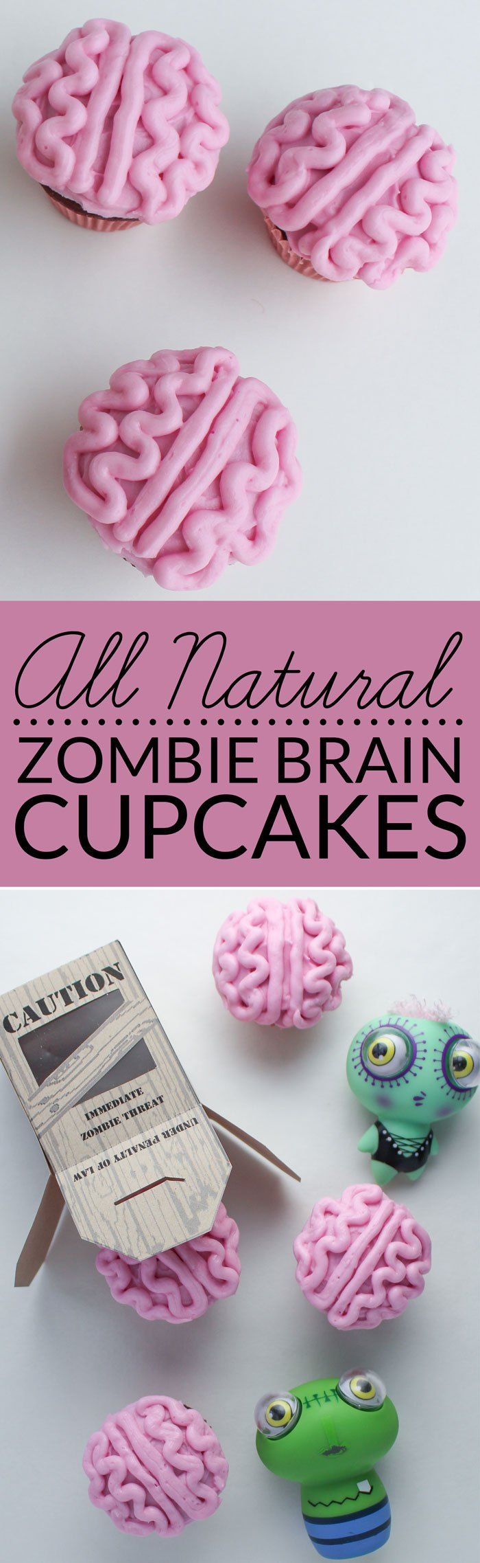 This fun and healthy Halloween cupcake recipe contains no artificial color or dye and is still blood red! Celebrate everything zombie and goolish this Halloween! Host a the Walking Dead party. Get a free printable zombie containment crate.