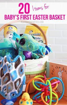 The 25 best babys first easter basket ideas on pinterest 20 items for babys first easter basket negle Gallery