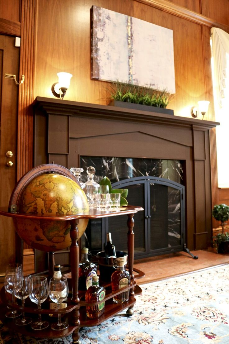 Antique Zoffoli globe bar for the library!                                                                                                                                                                                 More