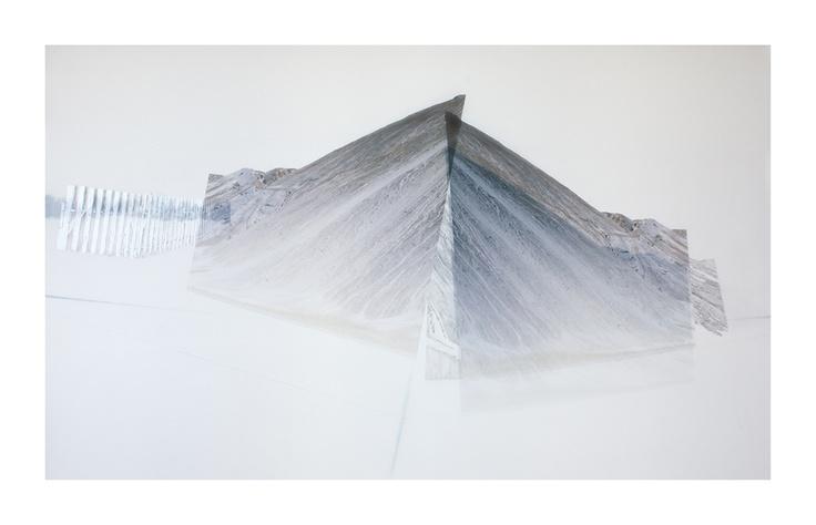 Haldes 2   Impression numérique et graphite sur Mylar  2012  Cara Déry   #art