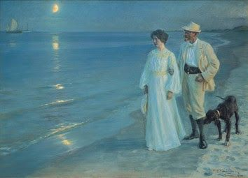 P. S. Krøyer, Καλοκαιρινή νύχτα στην παραλία του Skagen. Ο ζωγράφος και η γυναίκα του. 1899. Μουσείο Hirschprung. Κοπεγχάγη. Δανία.