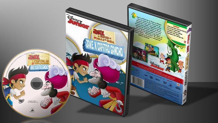 Jake E Os Piratas Da Terra Do Nunca - Jake X Capitão Gancho - Capa | VITRINE - Galeria De Capas - Designer Covers Custom | Capas & Labels Customizados