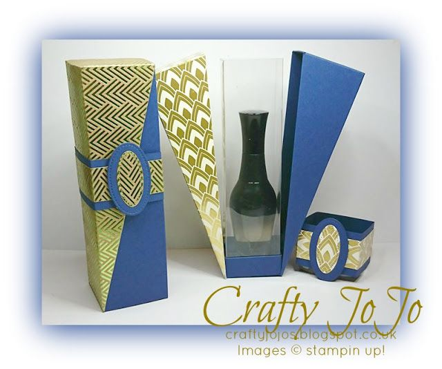 Crafty JoJo`s Blog: Drop Side Gift Box Variations & Tutorial