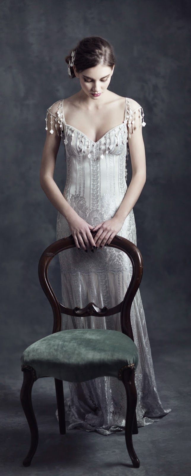 "Claire Pettibone 2015 Bridal Collection ""Gothic Angel"" - Belle the Magazine . The Wedding Blog For The Sophisticated Bride"
