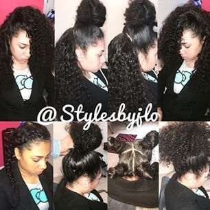 vixen sew in weave with curly hair - Google Search