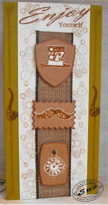 A handmade card using the Vintage Minis stamp set from Crafty Roo Designs