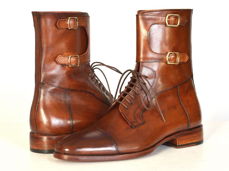 PAUL PARKMAN ® The Art of Handcrafted Men's Footwear - Paul Parkman Men's High Boots Brown Calfskin (ID#F554-BRW)