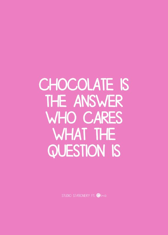 Chocolade fixt alles 🤤 True story!