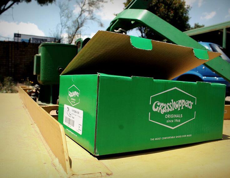 Grasshopper Original Shoe Box! Yeah its GREEN.