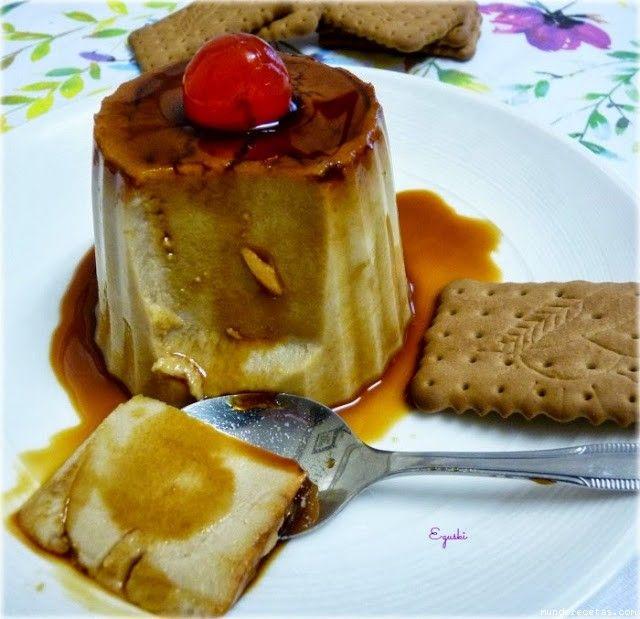Flan de queso y galletas (Thermomix)