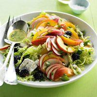Peach and Blackberry Slaw - gorgeous summer salad!