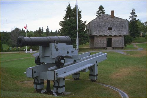St. Andrews Blockhouse - The war of 1812 fortification still stands overlooking St. Andrews harbour.