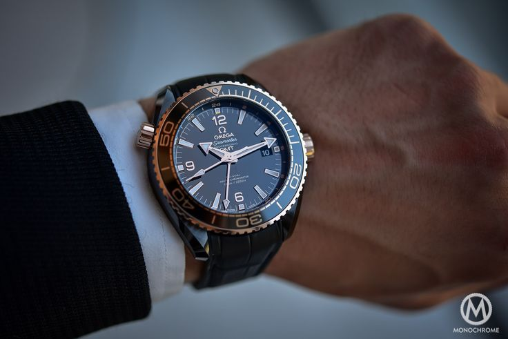Introducing - Omega Seamaster Planet Ocean Deep Black (Ceramic GMT) - Darker than The Deep Sea - REVIEW with live photos, specs & price - Monochrome Watches