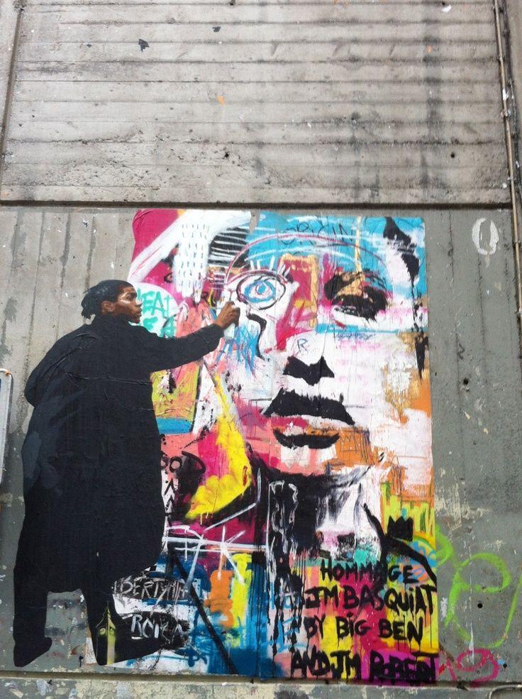 basquiat street art | Homage to Jean Michel Basquiat ...