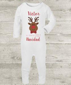 6efa7e9ff Pijama personalizado primera navidad reno niño