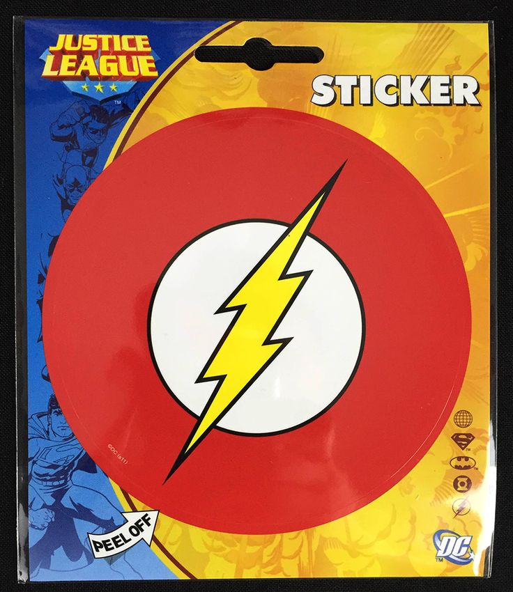 The Flash Logo Sticker from June, 2015's Hero Crate (The Flash Theme)