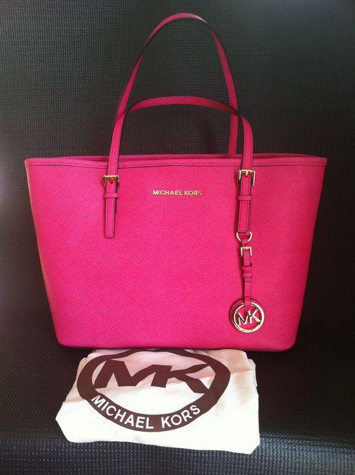 $222 Michael Kors MK Pink Tote Handbag