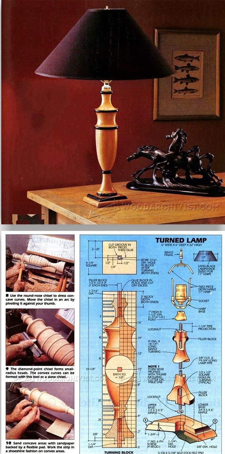 Maple Lamp - Woodturning Projects and Techniques | WoodArchivist.com