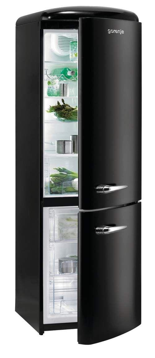 black fridge / czarna lodówka