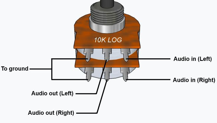 wiring stereo volume pot - Google Search | electronics | Pinterest ...