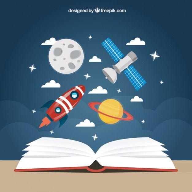 Fondo de educación espacial Vector Gratis