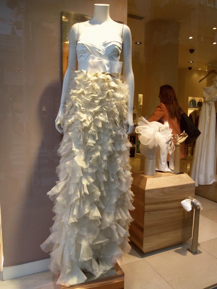 Want it !!!! #window_display #max_mara #greece #white_dress