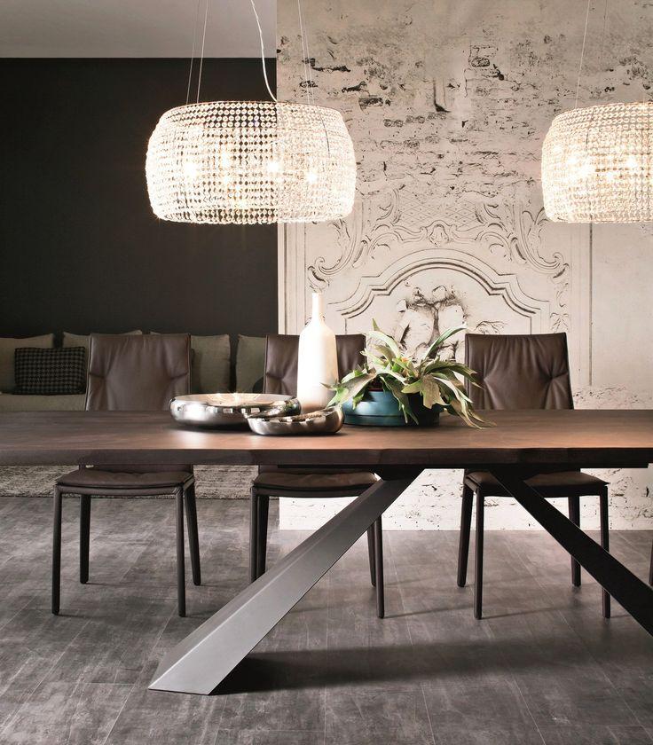 Стол и стулья для кухни: 40+ идей организации обеденного пространства (фото) http://happymodern.ru/stol-i-stulya-dlya-kuxni-42-foto-kak-oformit-komfortnuyu-obedennuyu-zonu/ Стол на 10 человек (260x90) и стулья, обитые кожей