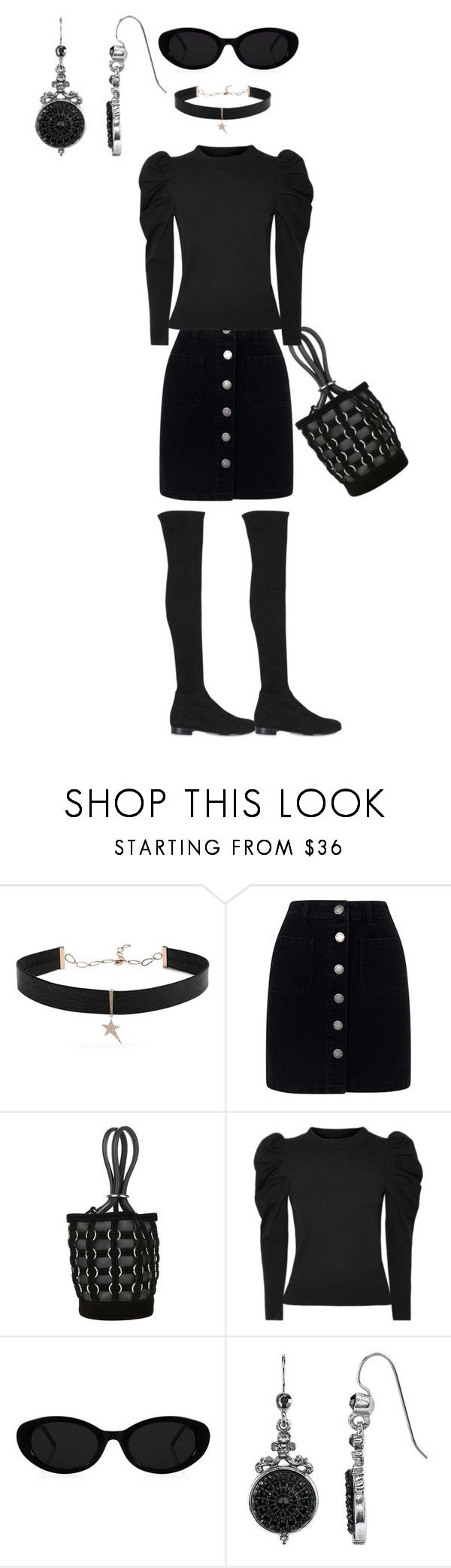 """BLACK IS THE OLD AND NEW BLACK"" by michelle858 ❤ liked on Polyvore featuring Diane Kordas, Miss Selfridge, Alexander Wang, CO and Jimmy Choo"