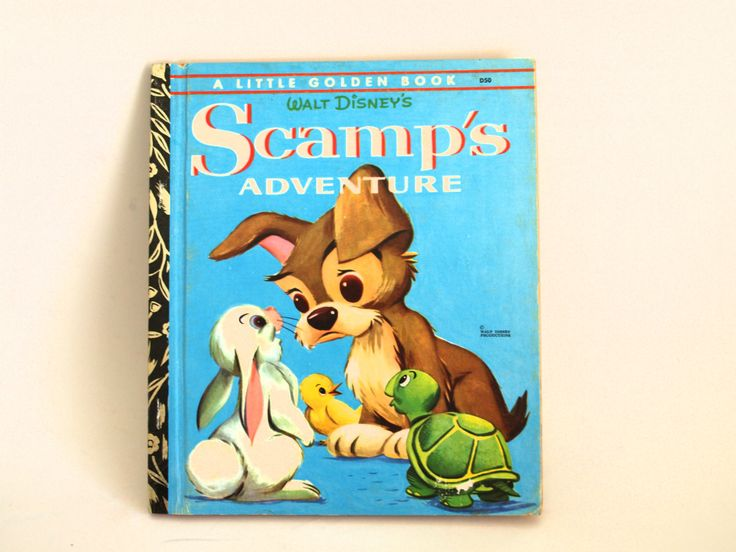 Walt Disney's Scamp's Adventure Story Book - Little Golden Books - 1972 - Retro Children - D50 Golden Press Sydney by FunkyKoala on Etsy