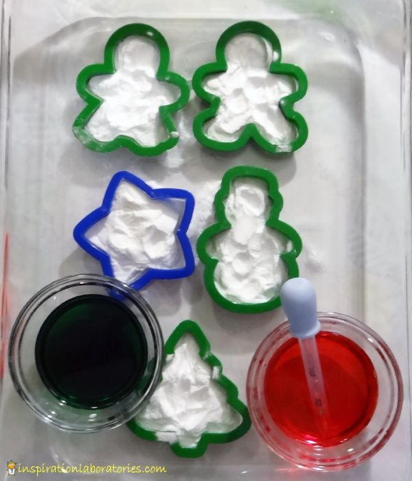 Christmas Science: Baking Soda, Vinegar, and Cookie Cutters - Day 6  of our Christmas Science Advent Calendar