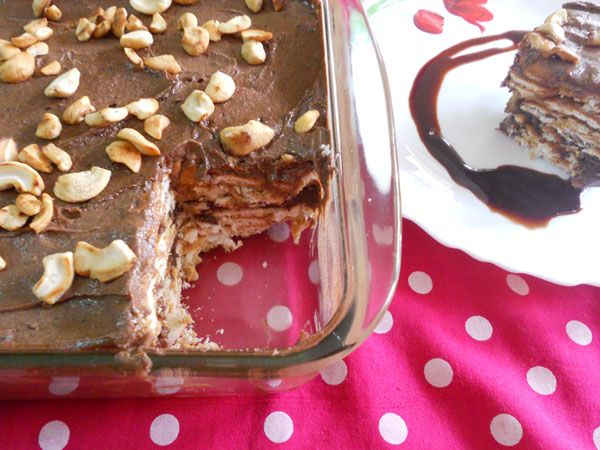 Cooking Is Easy: No Bake Eggless Chocolate Biscuit Pudding.