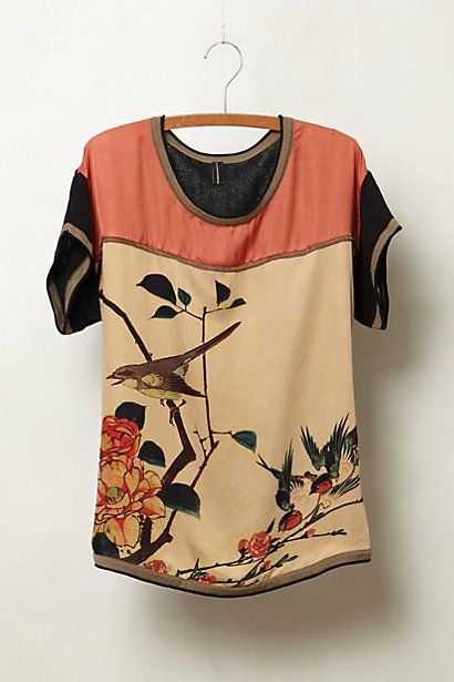 Chinoiserie Bird Top #anthropologie #AntrhoFave
