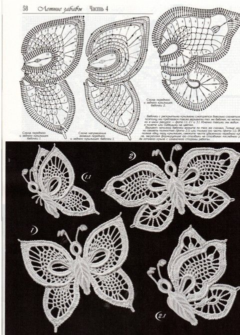 Mejores 184 imágenes de mariposas en Pinterest | Mariposa de croché ...