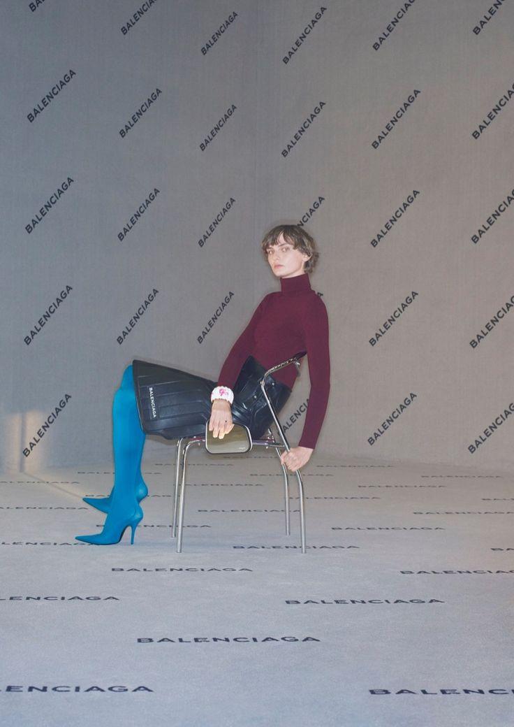 Balenciaga Brings Its Logo Forward in Fall 2017 Campaign