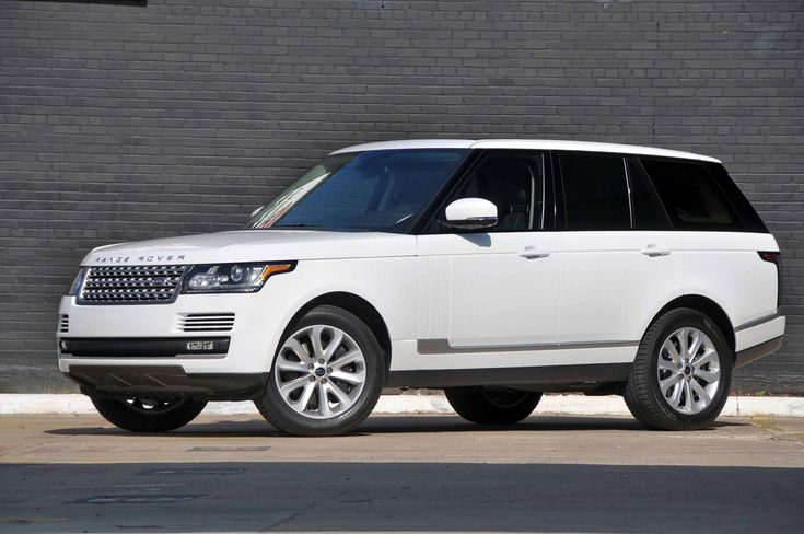 2014 Range Rover White, I need to drive this in college for sure ;)