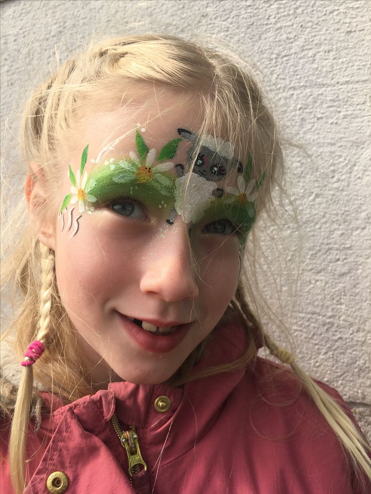 Easter lamb face paint