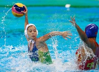 Chiappini, Izabella, Song, Donglun - Water Polo - Brazil, China - Women - Women's Classification 7th-8th Place - Olympic Aquatics Stadium