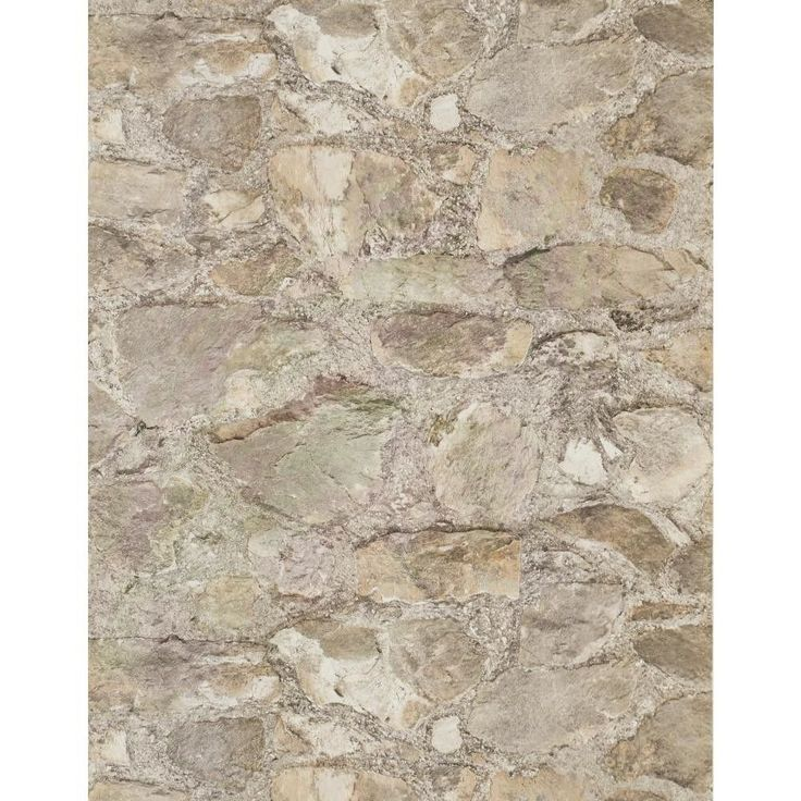 "Weathered Finishes 33' x 20.8"" Field Stone Wallpaper"