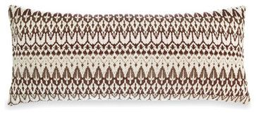 ila chocolate pillow (15x35) - Contemporary - Bed Pillows And Pillowcases - Thos. Baker