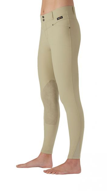 Cross Over Kneepatch Riding Breech | Kerrits Traditional styling and cutting-edge fabric and design #favoriteridingpants #showclothes #tanridingbreeches