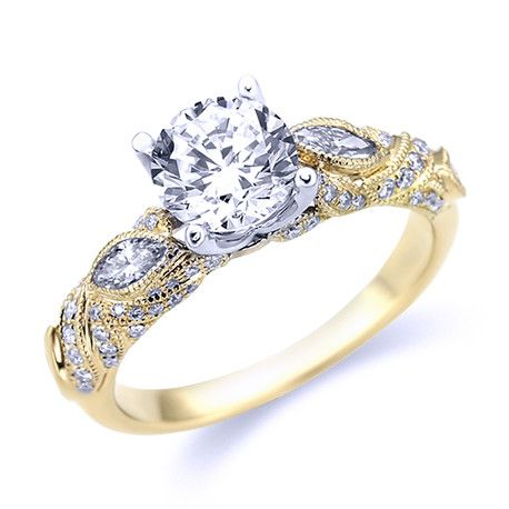 Parade Vintage Inspired Diamond Engagement Ring R3493/R1-YW