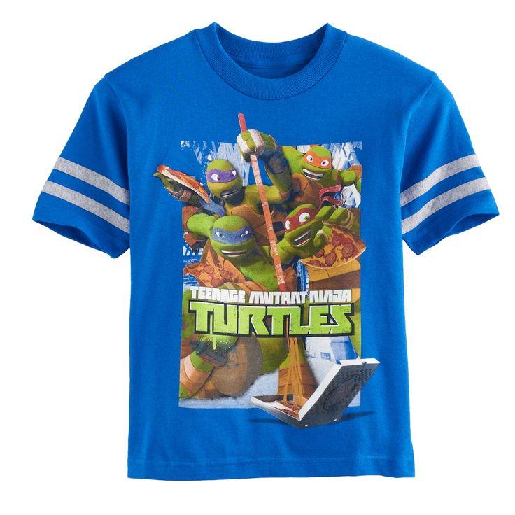 Boys 4-7 Teenage Mutant Ninja Turtles Graphic Tee, Size: 4, Light Blue