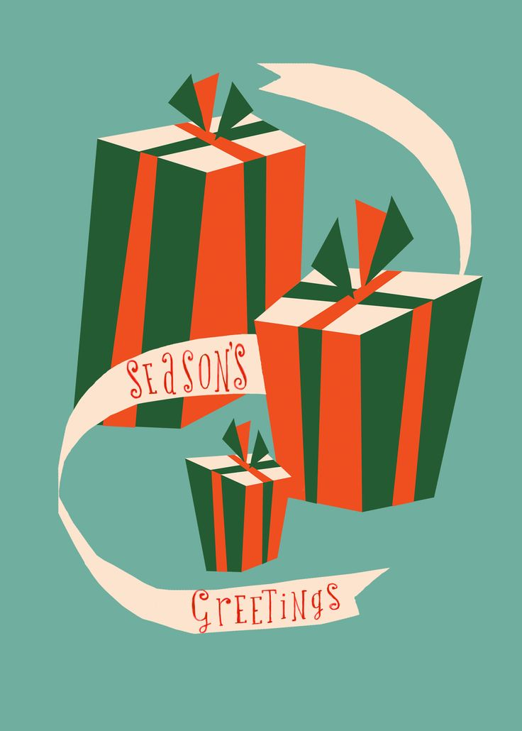 christmas gift packages greeting card by marco marella https://www.behance.net/marcomarella