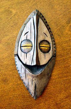 die besten 25 tiki maske ideen auf pinterest tonmasken totempfahl kunst und totempf hle. Black Bedroom Furniture Sets. Home Design Ideas
