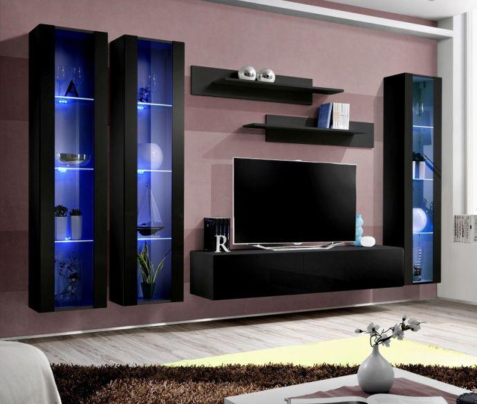 219 best meubles tv moderne images on pinterest tv units living room wall units and modern tv. Black Bedroom Furniture Sets. Home Design Ideas