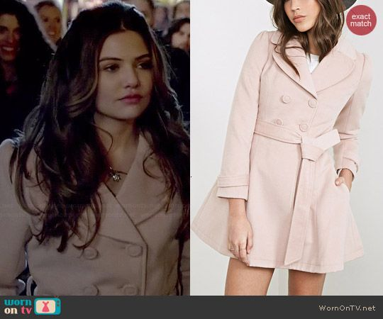 Davina's pink coat on The Originals.  Outfit Details: http://wornontv.net/45843/ #TheOriginals