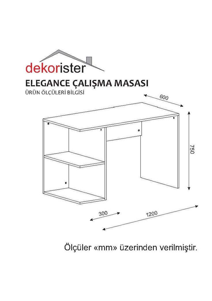 Elegance Çalışma Masası Beyaz-Ceviz