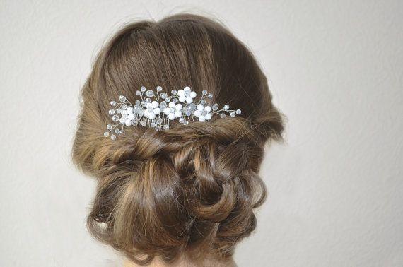Bridal Hair Comb, Wedding Headpiece, Bridal Crystal Hair Piece, Wedding Crystal…